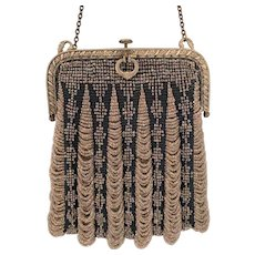 Art Deco Iridescent Beaded Bag