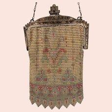 Whiting and Davis Co Enamel Mesh Purse/Handbag Vintage 1920s