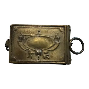 Antique French Souvenir Charm Pendant Locket Photograph Album French Tourist Sites