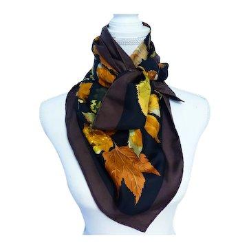 HERMÈS Tourbillons Fall Leaves Silk Scarf