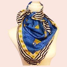Vintage Bottega Veneta Nautical Silk Scarf