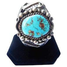 Vintage  Native American Turquoise Cuff Bracelet