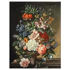 Dutch School Floral Still Life Painting
