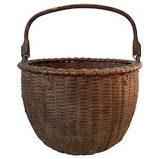 Black Ash Swing Handle Gathering Basket