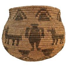 Native American Olla Form Basket