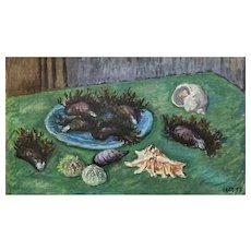 Waldo Peirce Still Life 'Shells & Mussels'