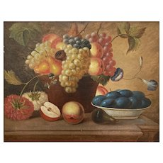 Still Life with Blue Plums