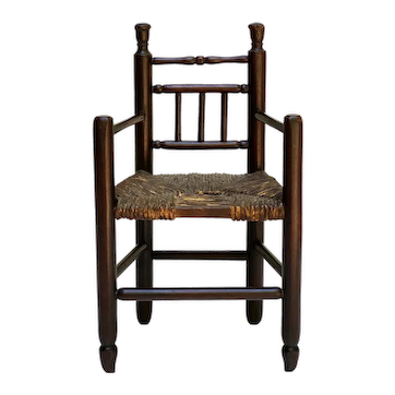 Miniature 'Carver' Type Turned Arm Chair