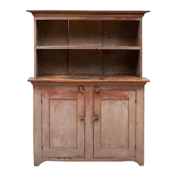 Hudson Valley Painted Step-Back Cupboard