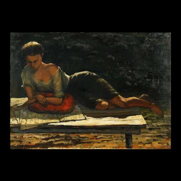 Stephen Morgan Etnier 'Young Woman Reading'