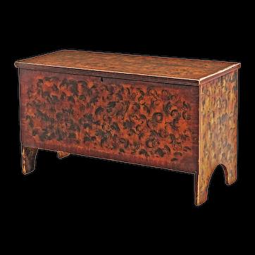 Polychrome Paint-Decorated 'Mattison' Box
