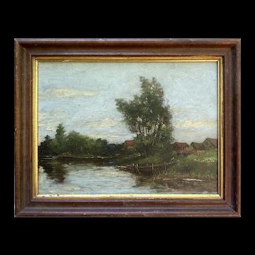 Anton Rudert (American 1889-1964) 'River Scene'