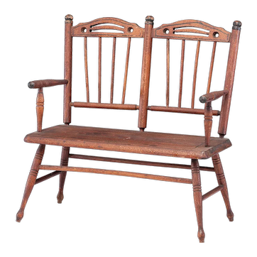 Early Miniature Paint Decorated Settee