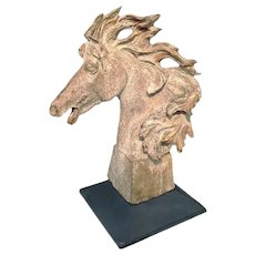 19th C. Cast Iron Horse Head