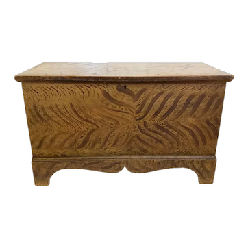 Diminutive Paint Decorated Chest