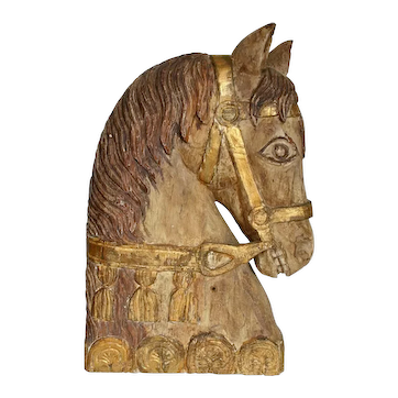 19th C. Carved Italian Horse Head