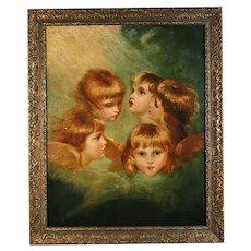 'Child's Portrait' - Large Original Oil on Canvas - Emily J Floris