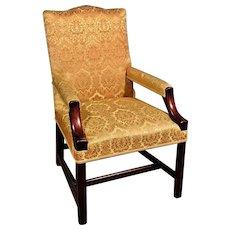 Handsome George III Mahogany Gainsborough Chair c. 1760