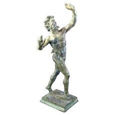 Grand Tour Bronze Pompeii Dancing Faun c. 1850