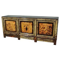 Restored Lacquered Chinese ShanXi Province Sideboard c. 1920