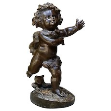 Early 19th Century French Bronze of a Cherubic Child c. 1820
