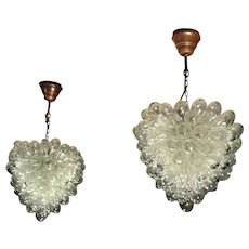 Pair of Vintage Liberty of London 'Grape' Light Chandeliers