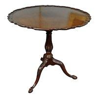 George III Pie Crust Tilt Top Wine Table with Bird Cage Action c. 1770