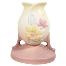 Hull Pottery Magnolia Candleholder