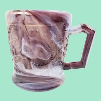 Imperial Glass Robin Mug in Smooth Purple Slag Glass