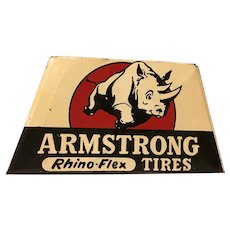 Car Gas Oil related Armstrong Tire Adverising Tin Stand