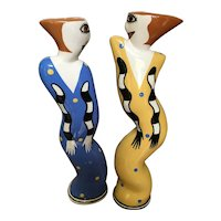 Abstract, Unique, Female Candle Sticks