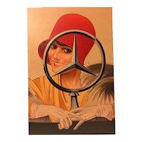 Art Deco Painting Mercedes Advertising