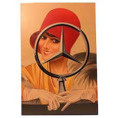 Art Deco Painting Mercedes Advertising