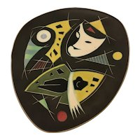Modernism Abstract Wall Plaque
