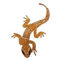 Dominique Salamander Deco Brooch