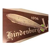 Rare Pennant Zeppelin Hindenburg Lakehurst