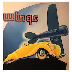 Car Airplane Deco Painting