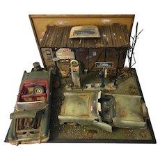 Car Garage Diorama Gas Station Model Display