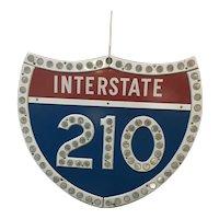 California 210 Pasadena Highway Sign