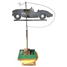Weather Vane with RARE 1940's Custom Sports Car by Coach Craft