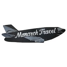 Advertising Airplane Monarch Travel Agency