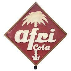 HUGE Historical AFRI COLA Advertising Store Display 1940's