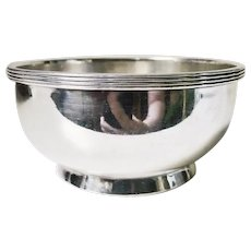 Antique Silver Plated Bowl from Chicago, Milwaukee, and St. Paul Railroad