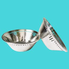 Set of 2 Silver Plated Bowls from Union Pacific Railroad