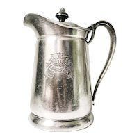 1954 Silver Plated Insulated Pitcher from The Ambassador Hotel NYC