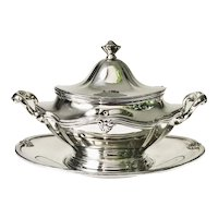 Antique Silver Plated New York Central & Hudson River Railroad Tureen Set