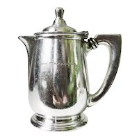 Vintage Silver Plated Teapot from the Pere Marquette Railway