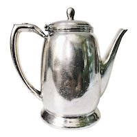 1947 Silver Plate Southern Pacific Railroad Teapot