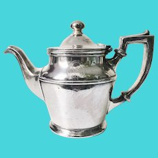 1922 Silver Plate Teapot from Admiral Line & Pacific Coast Steamship Company