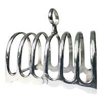 Antique Silver Plate Toast Rack from a Peninsular and Oriental Steam Navigation Co Steamship